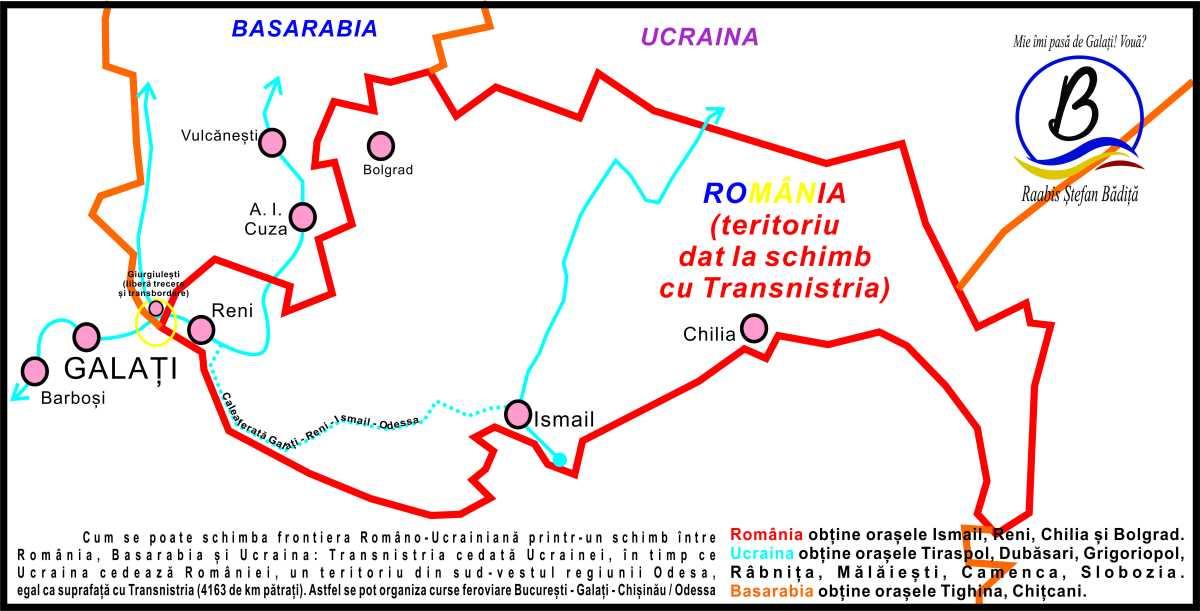 După reunirea cu Basarabia, se poate face un schimb teritorial cu Ucraina. Cedăm Transnistria și obținem Reni, Chilia, Bolgrad și Ismail?